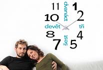 Nalepovací hodiny 15 - české, vícebarevné