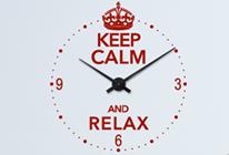 Nalepovací nástěnné hodiny 28 - keep calm and relax