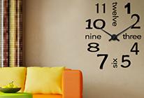 Nalepovací nástěnné hodiny 15 - anglické