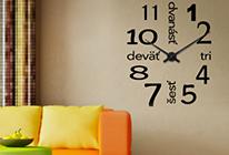 Nalepovací nástěnné hodiny 15 - slovenské