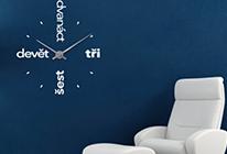 Nalepovací nástěnné hodiny 16