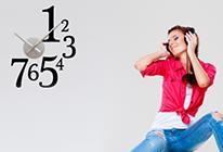 Nalepovací nástěnné hodiny 18