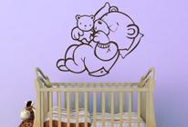 Samolepka na stěnu - Spící medvídek