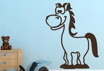 Samolepka na stěnu - Koník Toník