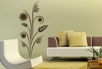 Samolepka na stěnu - Květinový vzor 01