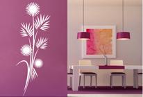 Samolepka na stěnu - Květinový vzor 02