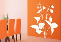Samolepka na stěnu - Lesní jahody