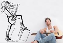 Samolepka na zeď - Rockerka
