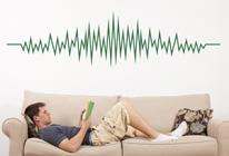Samolepka na zeď - Zvuková vlna