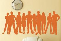 Samolepka na zeď - Můj tým