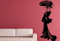 Samolepka na zeď - Geisha