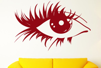 Samolepka na zeď - Namalované oko
