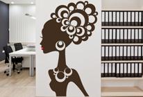 Samolepka na zeď - Afro dívka