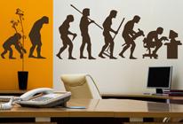 Samolepka na zeď - Evoluce