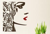 Samolepka na zeď - Tvář dívky