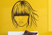 Samolepka na zeď - Dívka s mikádem