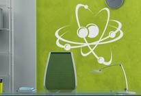 Samolepka na zeď - Rotující atomy