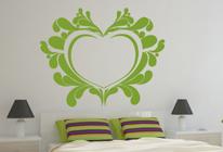 Samolepka na zeď - Rozkvetlé srdce