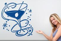 Samolepka na zeď - Martini s olivou