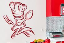 Samolepka na zeď - Kuchařská čepice
