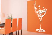 Samolepka na zeď - Kvetoucí sklenička