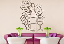 Samolepka na zeď - Láhev vína