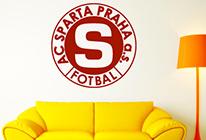 Samolepka na zeď - Logo Sparta Praha