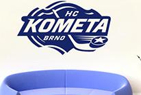 Samolepka na zeď - Logo Kometa Brno