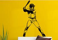 Samolepka na zeď - Baseball - pálkař