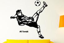 Samolepka na zeď - Fotbalista 03