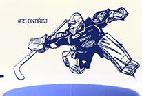 Samolepka na zeď - Hokejový brankář