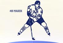 Samolepka na zeď - Hokejista 02