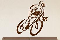 Samolepka na zeď - Cyklista