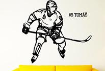 Samolepka na zeď - Hokejista 03