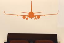Samolepky na stěnu - Přistávající letadlo