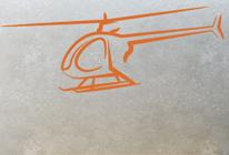 Samolepky na stěnu - Helikoptéra 02
