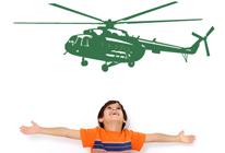 Samolepky na stěnu - Helikoptéra 01