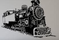 Samolepky na stěnu - Vlak