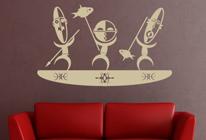 Samolepky na stěnu - Rybáři na lodi