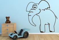 Samolepky na zeď - Slon