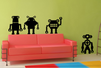 Samolepky na zeď - Roboti mix3