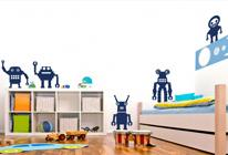 Samolepky na zeď - Roboti mix2