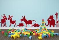Samolepky na zeď - Veselá zvířátka 1