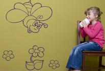 Samolepky na zeď - Včelička