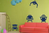 Samolepky na zeď - Roboti mix1