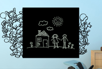 Samolepky na zeď - Děti na boky tabule