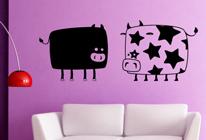 Samolepky na zeď - Dvě kravičky