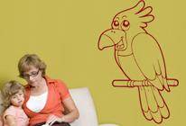 Samolepky na zeď - Papoušek