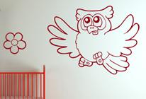 Samolepky na zeď - Moudrá sova