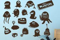 Samolepky na zeď - Mimozemské příšerky